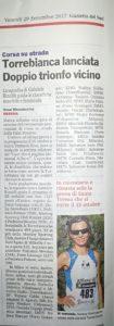 """20170929 Gazzetta del Sud """"Torrebianca lanciata  - Doppio trionfo vicino"""""""